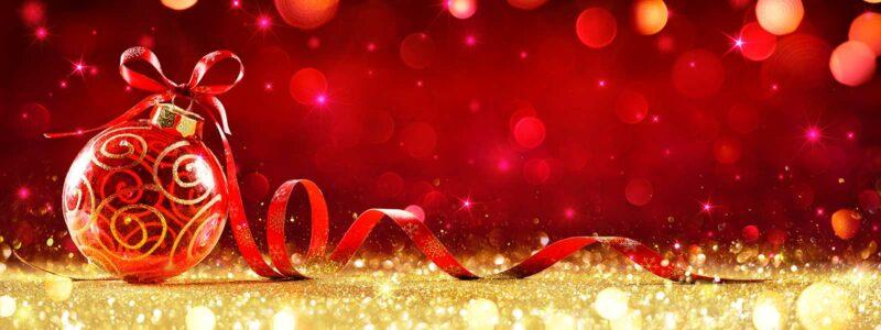 decorative holiday bulb glitter and ribbon